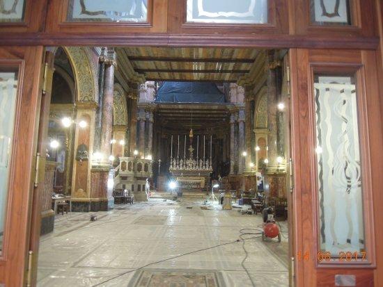 Église collégiale du naufrage de saint Paul : Renovations on the main part of the church