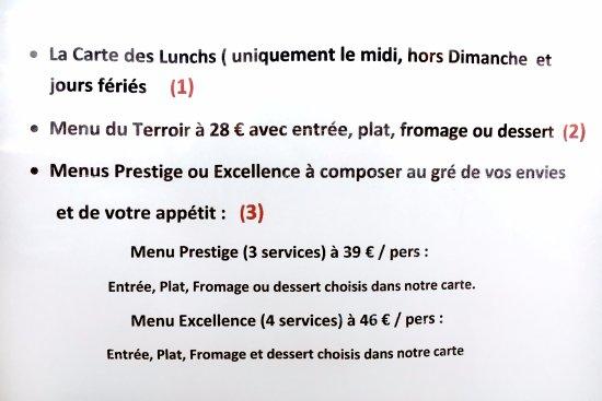Chassey-le-Camp, Francia: les menus