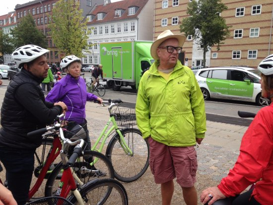 Mike Offering Up A Load Of Info Picture Of Bike Copenhagen With
