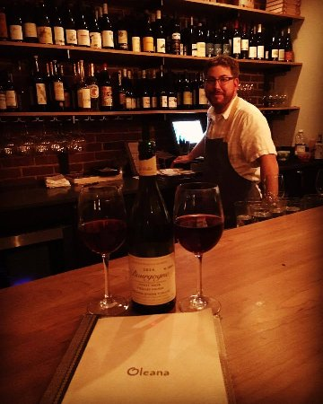 Oleana : This is Eric the bartender....he is the man! Great wine from Burgundy and on the mid-range ($65)