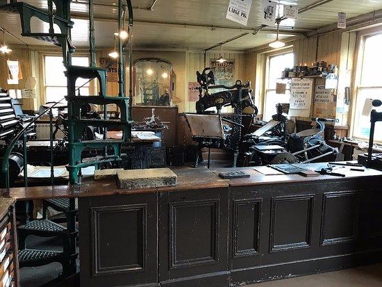 Beamish, UK: Print Works Upstairs