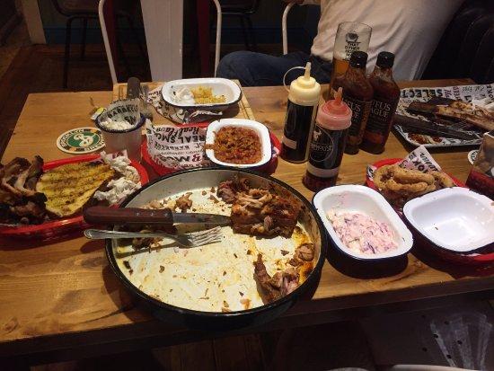 Grimsby, UK: Wreckage of the Man V Food Challenge. I surrender.