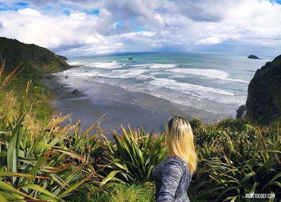 Muriwai Beach, Nouvelle-Zélande : The beach
