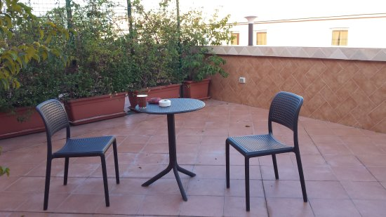 Augusta Lucilla Palace : Balcony patio. We paid a little more and had a wonderful balcony. The staff was great and lots t