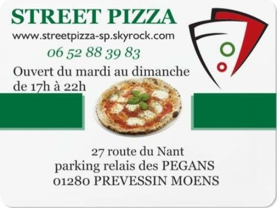 Prevessin Moens, ฝรั่งเศส: Street pizza