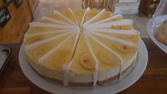 Suffolk, UK: Cheesecake citron et tartelette