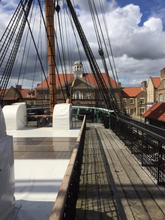 Hartlepool, UK : View for'ard from the main deck