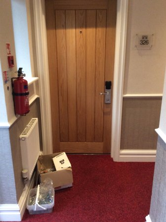 Carden Park Hotel: Unusual welcome gift upon arrival outside room