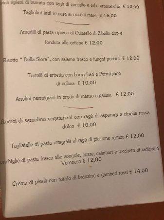 Colorno, Italia: first courses menu.....check the risotto......