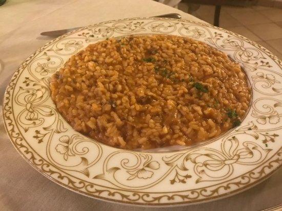 Colorno, Italia: Risotto with salami and porcini