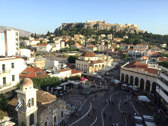 A for Athens Breakfast Lounge: View of the Acropolis from A for Athens
