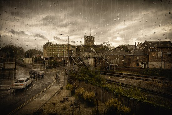 Grimsby, UK: View from the main stair well window. Rain may be a chargeable extra.