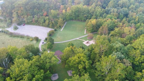 Madison, OH: Aerial image of park