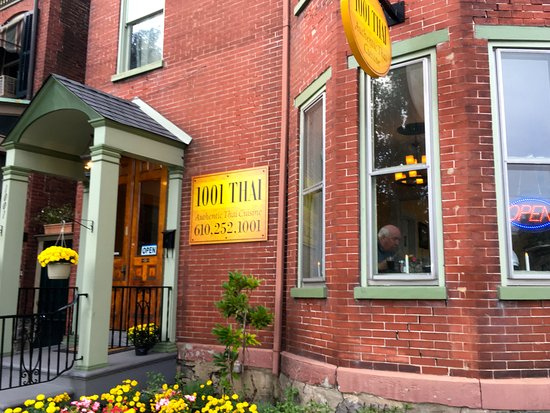 Easton, PA: 1001 Thai is located in a charming Victorian villa.