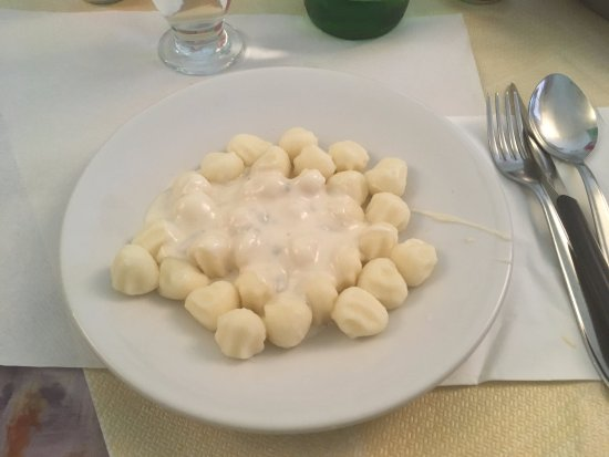 Gorgonzola, Italien: gnocchi e zola una specialità assolutamente da provare