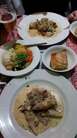 Gallimore's Fine Restaurant: Our mains at Gallomore's, Fantastic food!