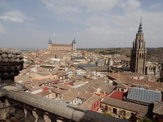 Iglesia de San Ildefonso Jesuitas: 塔の上からの展望。