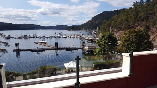 Pender Island, Canada: view from main lobby balcony
