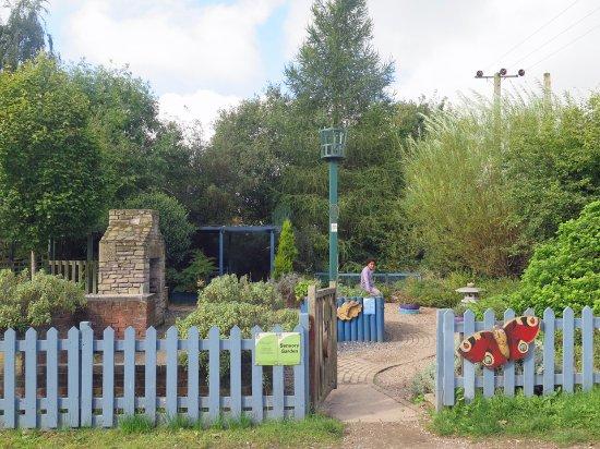 Swadlincote, UK: The sensory garden, leading to the herb plantation