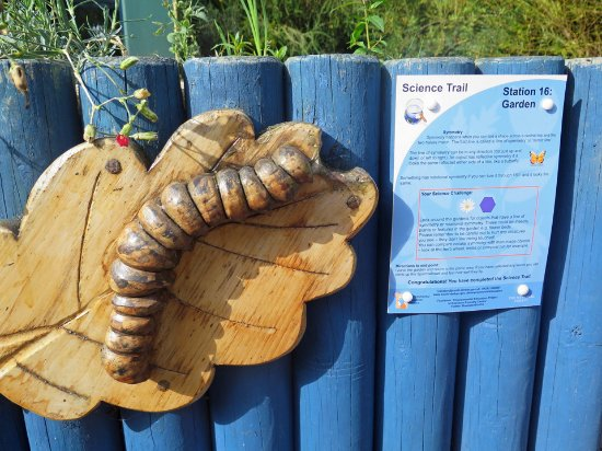 Swadlincote, UK: Lots of information posts on the science trail