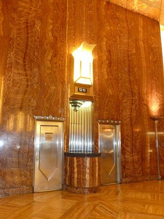 Chrysler Building: lobby clock