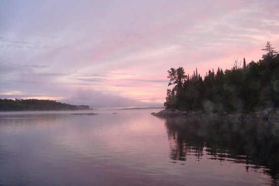 Chapleau, Canada: Sunrise near Snake Arm Bay