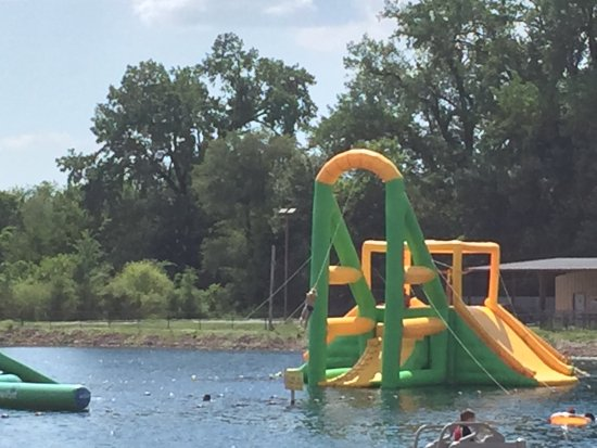 Rock Falls, IL: The rope swing and slide is one of the favorites!!