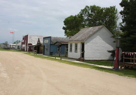 Steinbach, Canada: Main road of the village.