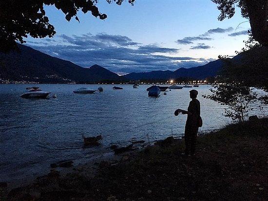 """Locarno Youth Hostel: Immer wieder schön, zwischen Locarno und Tenero zur """"Heure Bleue"""""""
