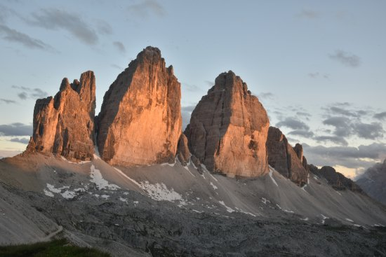 Tre Cime di Lavaredo: tre cime tramonto