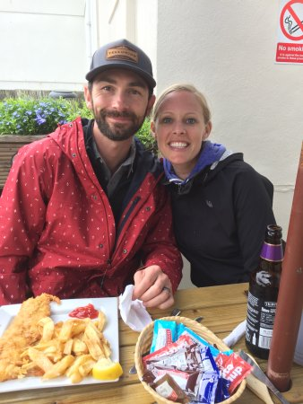 The Cod End Fish & Chip Shop: me and my love!