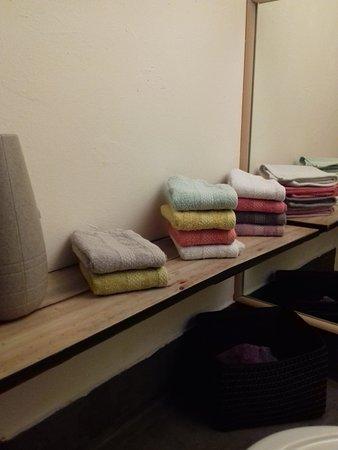Cadenet, France: Détails pertinents: Petites serviettes pour s'essuyer les mains aux toilettes.