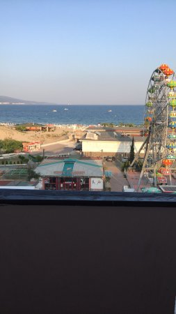 Pomorie Hotel: Hotel pool and view from 6th floor