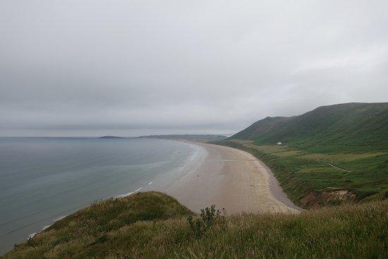 Rhossili Bay: rhossili beach (wreck of the helvetia)