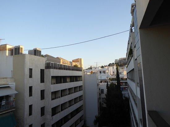 Divani Palace Acropolis: Vue de l'Acropole depuis notre balcon
