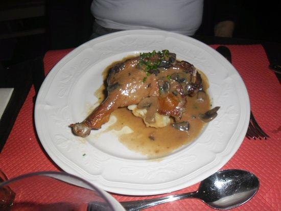 Ibis Styles Chinon: canard et sa purée