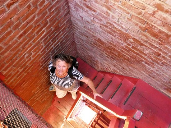 Newburyport, MA: Up the staircase to the top of the lighthouse