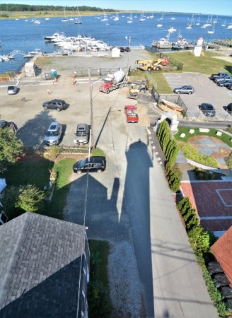 Newburyport, MA: View out to river and ocean; stay tuned for new walkway
