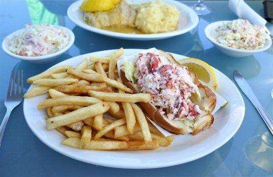 Newburyport, MA: Haddock, coleslaw, fries and lobster roll