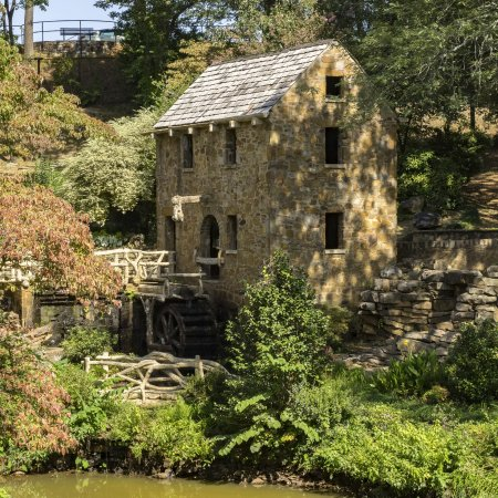 The Old Mill: September, 2017. The mill wheel is hidden in the shadows