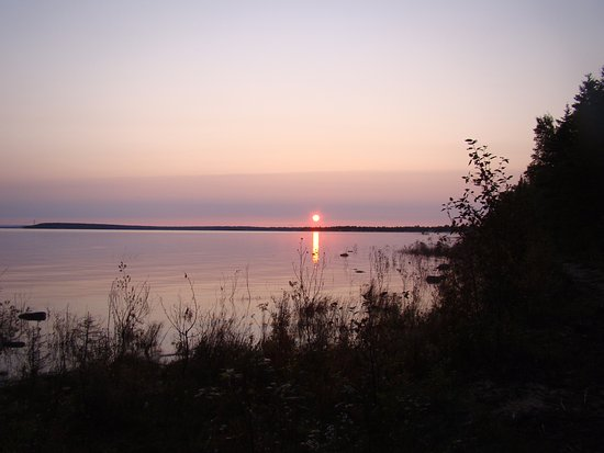 Wilderness State Park: Sunrise on Carp Lake