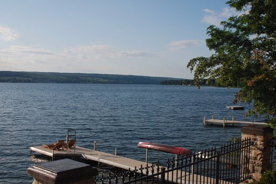 Penn Yan, NY: View from patio of dock