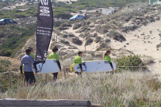 Carcavelos, Portugal: Walking - Wanted Surf School