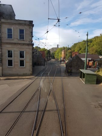 Matlock, UK: View from bottom of hill...looking up from Tram