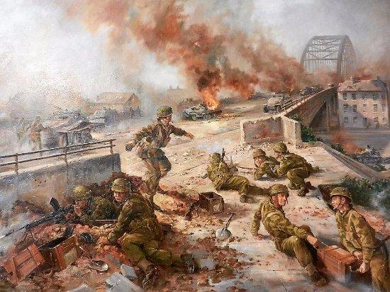 Airborne Museum Hartenstein: Schilderij van de slag om Arnhem