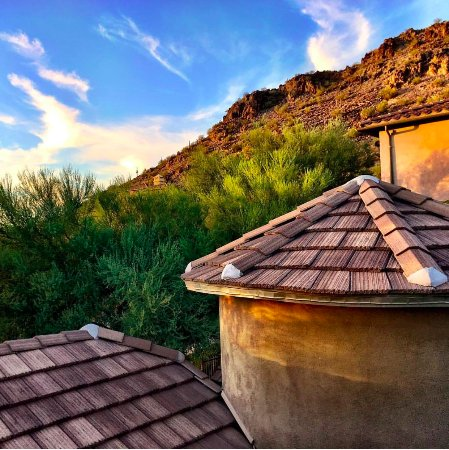 Peoria, AZ: This is a view of the mountain during an amazing Arizona sunset!