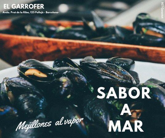 Palleja, Spain: Mejillones al vapor, no podrás resistirte hasta terminarlos