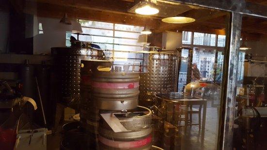 Ruoms, Frankrike: De bierbrouwerij.