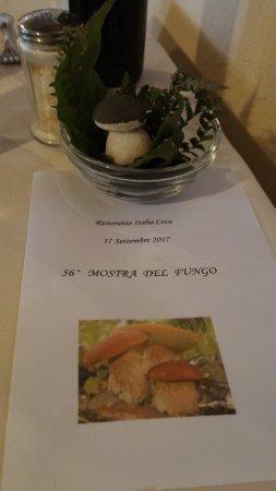 Ristorante Italia: menù in occasione della sagra del fungo
