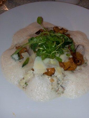 Saint-Andre-de-Bueges, France: risotto aux champignons et fromage de chevre